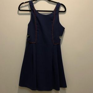 BCBGeneration - Blue Cut Out Mini Dress Size 4